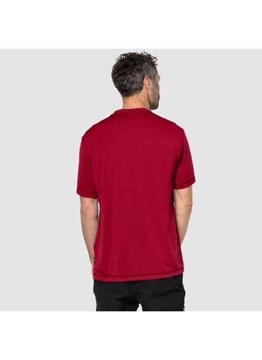 Jack Wolfskin Crosstrail Erkek T-Shirt - 1801671-2210 Kırmızı
